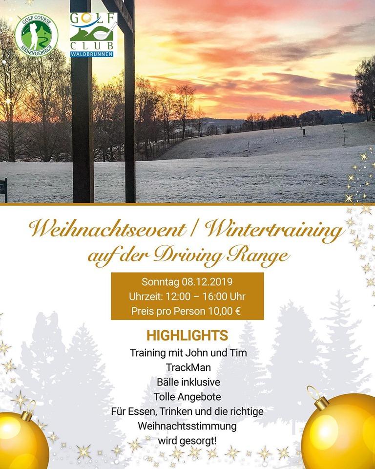 Weihnachtsevent auf der Driving Range im Golf Course Siebengebirge